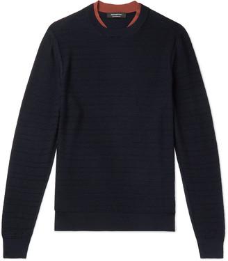 Ermenegildo Zegna Slim-Fit Textured-Wool Sweater