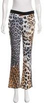 Just Cavalli Animal Print Straight-Leg Pants