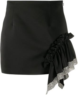 Area draped detail mini skirt
