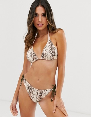 Dorina mix and match triangle bikini top in snake print