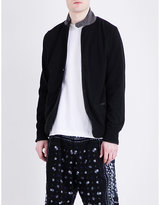 Sacai Contrast-collar Cotton-knitted Blazer