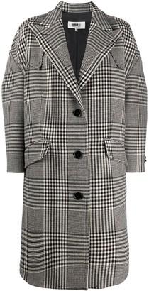 MM6 MAISON MARGIELA oversized Prince of Wales check coat