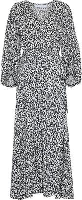 IRO Zanaka Leopard-print Jersey Maxi Wrap Dress