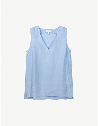 The White Company V-neck linen top