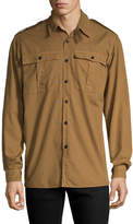Dries Van Noten Men's Shoulder Tab Sportshirt