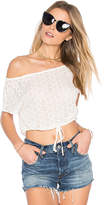 Flynn Skye Clara Crop Top in White. - size M (also in S,XS)