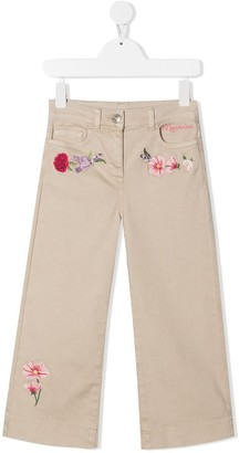 MonnaLisa Embroidered-Floral Cotton Jeans