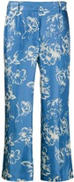 Alberto Biani cropped floral trousers