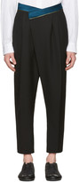 Haider Ackermann Black Wool Band Trousers