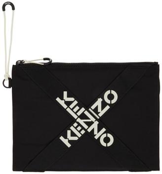 Kenzo Black Large Sport Pouch