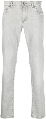 Dolce & Gabbana Logo-Patch Slim-Fit Jeans
