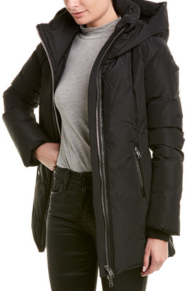 Nicole Benisti Series By Goldenes Leather-Trim Down Coat