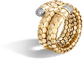 John Hardy Dot Coil Ring in 18K Gold with Diamonds