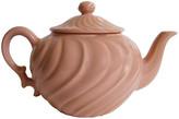 One Kings Lane Vintage 1940s Gladding McBean Swirl Teapot - The Emporium Ltd. - pink