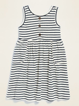 Old Navy Sleeveless Fit & Flare Striped Bow-Back Dress for Toddler Girls