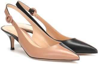 Gianvito Rossi Arleen slingback leather pumps