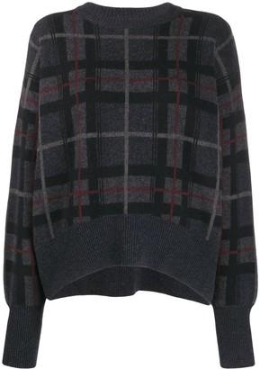 Le Kasha Evreux checked cashmere jumper