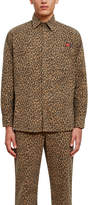 Opening Ceremony Dickies 1922 X All Over Leopard Print Long Sleeve Shirt