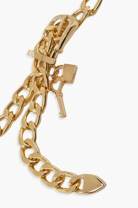 boohoo Chunky Chain Buckle Belt With Key