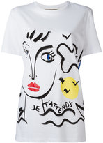 Iceberg face print T-shirt - women - Cotton - 40