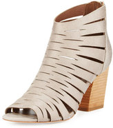 Donald J Pliner Greece Laser-Cut Open-Toe Bootie, Blush Pink