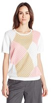 Alfred Dunner Women's Colorblock Sweater