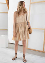 And other stories Tiered Ruffled Mini Dress