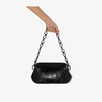 Osoi Black Dutch Brot wrinkled leather shoulder bag