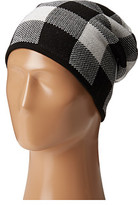 Plush Fleece - Lined Plaid Beanie