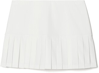 Tory Sport Pleated Hem Tennis Skirt
