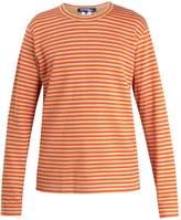 Junya Watanabe X Comme des Garçons striped linen-blend T-shirt