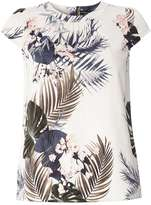 Dorothy Perkins Ivory Tropical Print Shell Top