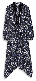 Tory Burch Puffed Sleeve Printed Tunic Dress
