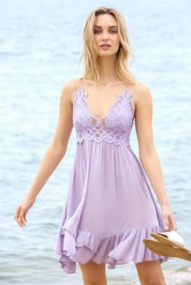 Free People Adella Slip Dress Lilac L