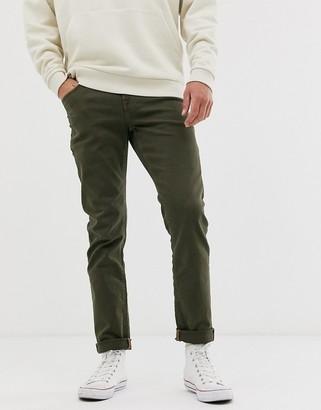 ASOS DESIGN slim jeans in khaki