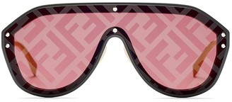 Fendi Eyewear FF Monogram Aviator Sunglasses