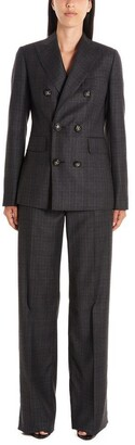 DSQUARED2 Checkered Double Breasted Two Piece Suit