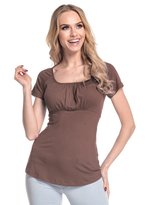 Glamour Empire. Women's Top T-shirt Short Sleeves. Flattering Ruched Bust. 005 (, 8)