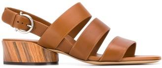 Salvatore Ferragamo Three-Strap Sandals