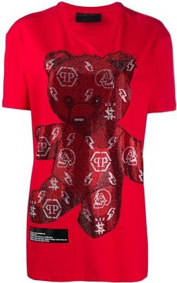 Philipp Plein teddy bear studded T-shirt