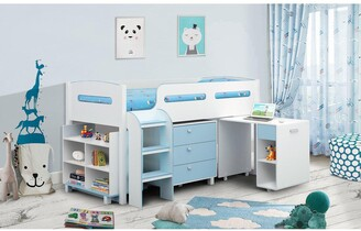 Julian Bowen Marley Cabin Bed with Storage and Desk - Sky Blue