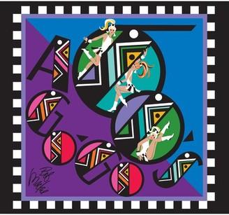 Bob Mackie Flatweave Purple/Blue/Black Rug