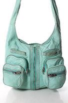 Alexander Wang Mint Green Leather Single Strap Multiple Pocket Full Zipper Donna