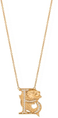 Stephen Webster Yellow Gold and Diamond Fish Tales B Necklace