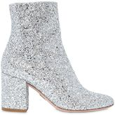 80mm Nicole Glittered Ankle Boots