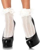 Leg Avenue Ivory Lace Ankle Socks