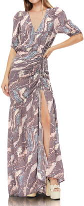 AFRM Nile Ruched Maxi Dress