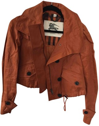 Burberry Orange Synthetic Jackets