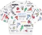 Kenzo Logo Party Printed Cotton Sweatshirt