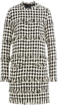 MSGM Houndstooth Dress with Fringe